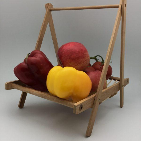 drewniany rękodzieło stojak na owoce
