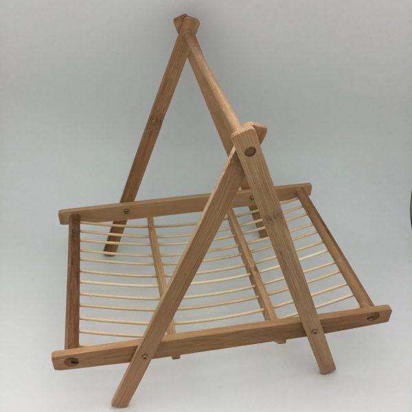 drewniany stojak na owoce lite drewno