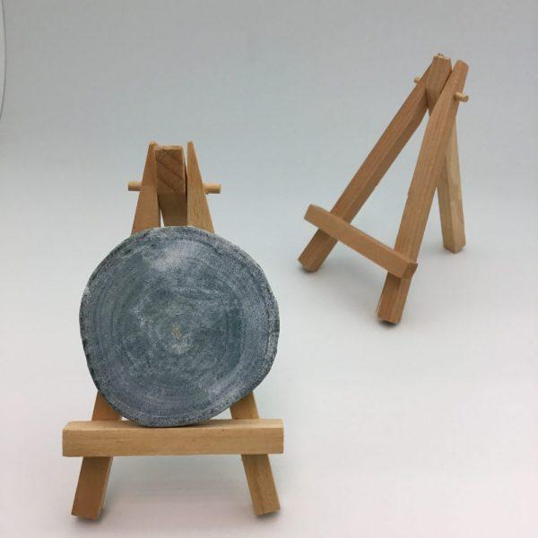 mini stojak na foto wizytówki drewniany